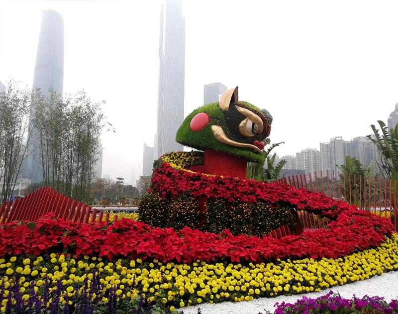 江苏五色草动物造型
